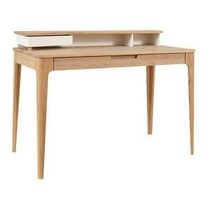 Contemporary Writing Desk in Smooth Rounded Lines and Flush Drawe...
