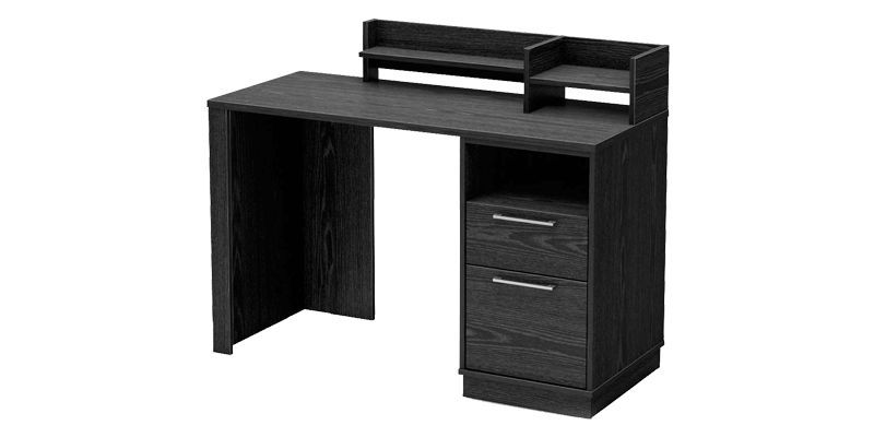 Contemporary Rectangular Study Table With Two Drawers And