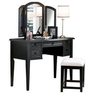 Modern Dressing Table with Mirror and Front Storage