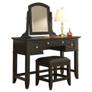 Classic Dressing Table with Swivel Mirror and Large Drawers