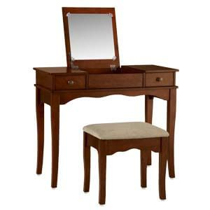 Classic Dressing Table with Mirror and Sabre Legs