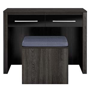 Contemporary Dressing Table with Wide Table Top and Spacious Fron...