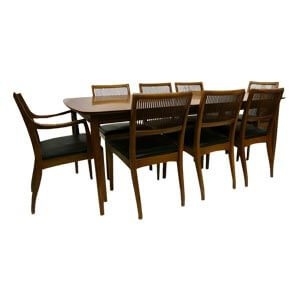 Classic Style 8 Seater dining sets with Sleek Slatted Back