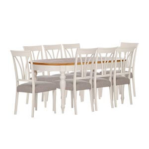 Classic 8 Seater Dining Set with Turned Legs Style