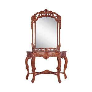 Classic French Dressing Table with Mirror and Cabriole Legs