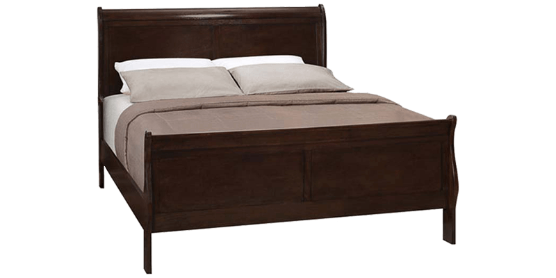 Queen Sleigh bed with Panel Details