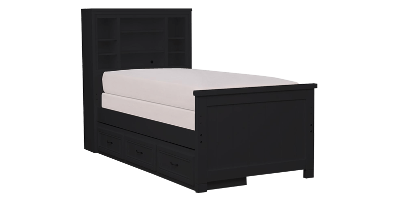 Single Size Bed with Spacious Storage Drawers an...
