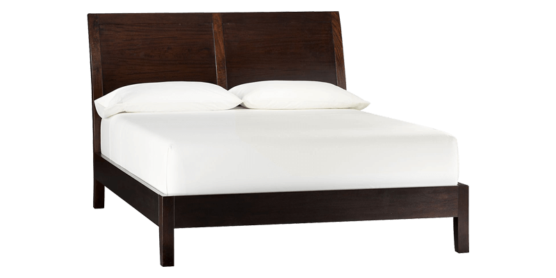 Queen Size Platform Sleigh Bed with Arched Headb...