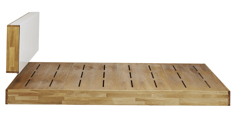 King Size Low Platform Bed With Laminate Headboard