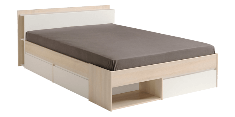 Queen Size Platform Bed with Multi-storage and H...