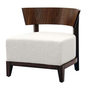 Contemporary Slipper Chair with Barrel Back