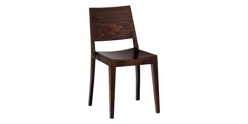 Teak Wood Dining Chair with Sturdy Wooden Legs