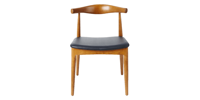 Contemporary Dining Chair with Modish Backrest
