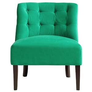 Modern Slipper Chair Having Comfortable Cushion Seating with Sing...