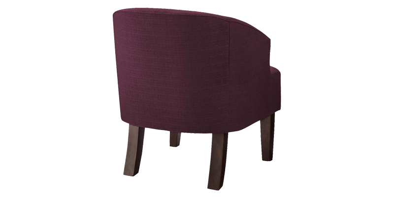 Purple Accent Chair With Barrel Back Style