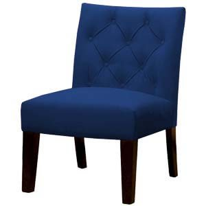 Classic Slipper Chair with Diamond Tufted-back and Short Legs