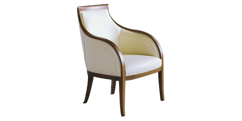 Cream Accent Chair with High Back Rest Cushion