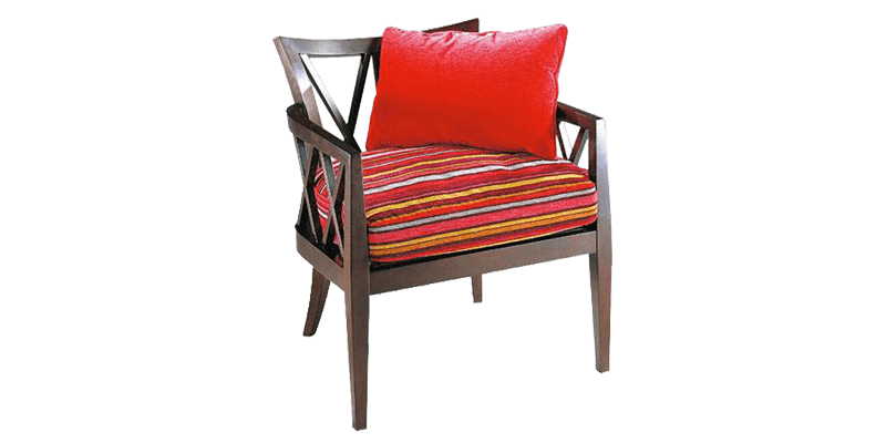 Wooden Accent Chair with Curved Back Rest