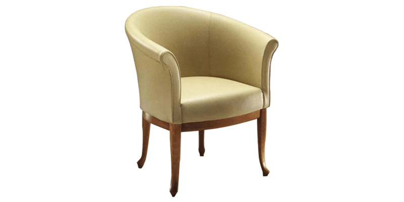 Contemporary Accent Chair in Pale Yellow with Sa...