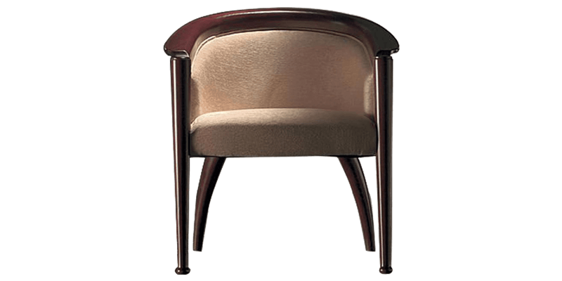 Modern Cream Accent Chair with Round Back