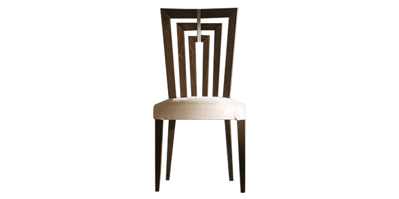 Brown Modern Dining Chair with Fabric Upholstery...