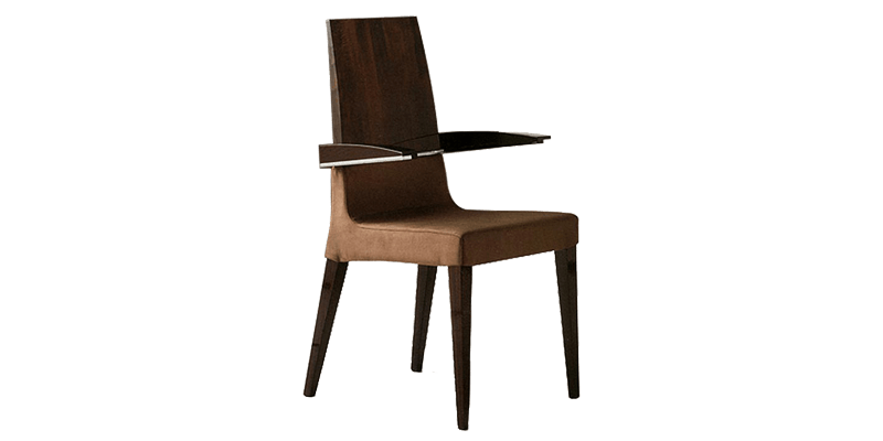 Brown Dining Chair with Tight Seating Cushion