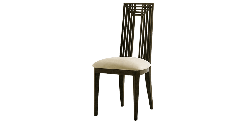 Solid Wood Dining Chair with Cushion Seat