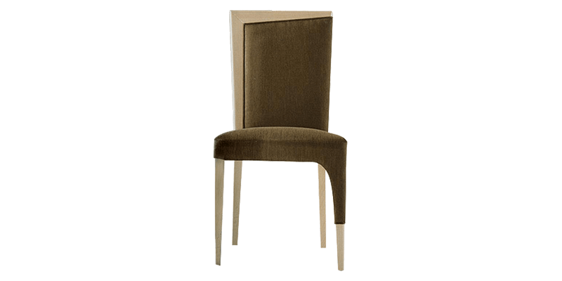 Solid Wood Dining Chair with Straight Back