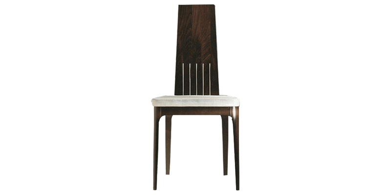 Modern Dining Room Chair with Narrow Back Seat