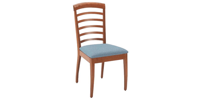 Blue Modern Dining Chair With Tight Cushion Seat...