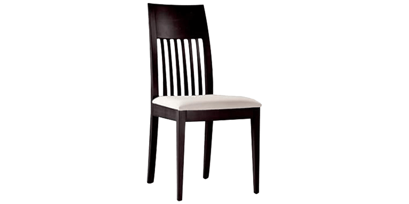 Kitchen Dining Chair with Slatted Straight Backs...