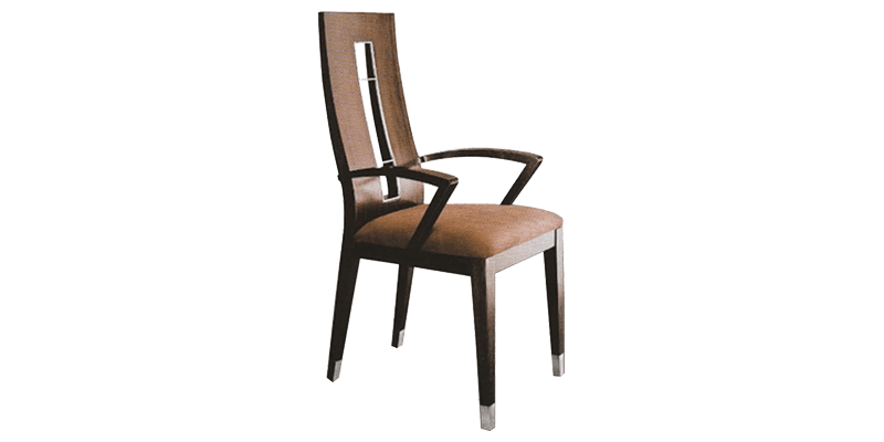 Comfortable Dining Chair with Track Styled Arms