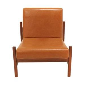 Modern Style Slipper Chair with Leatherette Covering and Stretche...