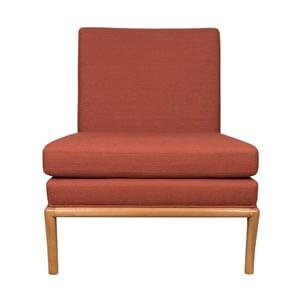 Modern Style Slipper Chair with Sleek Square Back