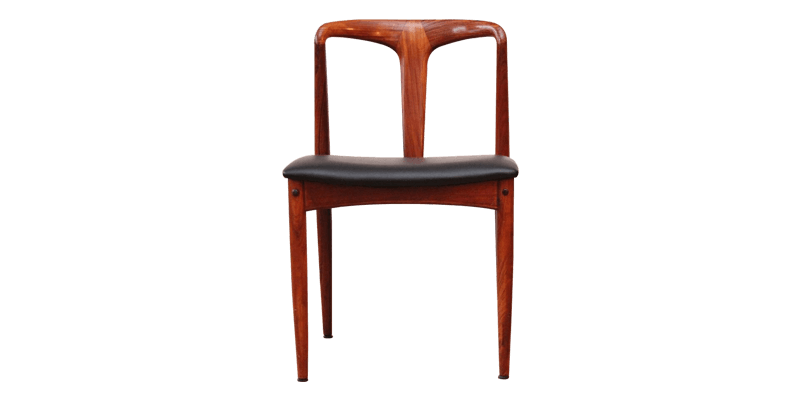 Modern Dining Chair with Curved Glossy Finish Wo...