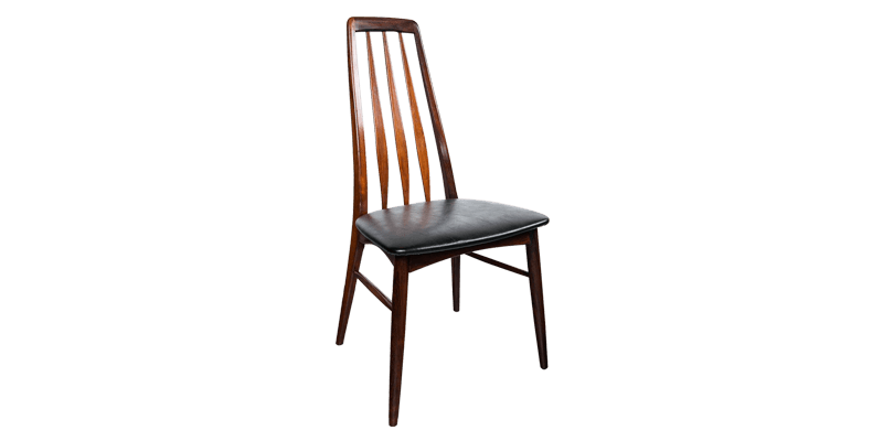 Kitchen Dining Chair with Slatted Back