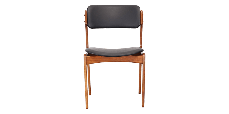 Comfortable Dining Chair with Curved Leatherette...