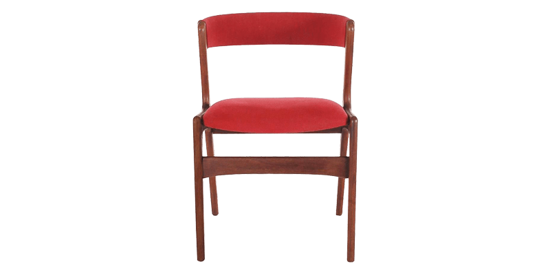 Walnut Dining Chair with Curved back and Smooth ...