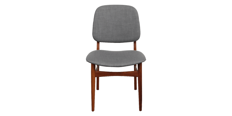 Modern Dining Chair with Fabric Upholstery