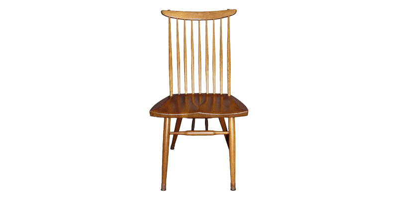 Spindle Back Wooden Dining Chair with Contoured ...