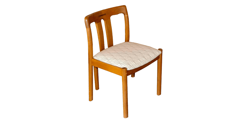 Modern Dining Chair with Short Back and Round Le...