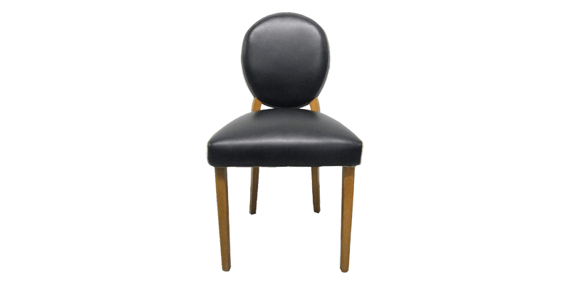 Upholstered Dining Chair in Leatherette Art Deco...