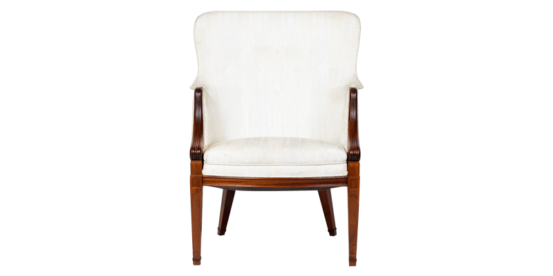 Fabric Wingback Chair with Classic Design Detail...
