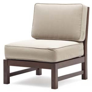 Contemporary Armless Slipper Chair with Slatted back and base