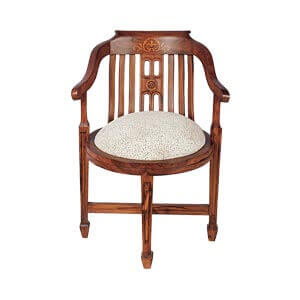 Traditonal Dining Chair with Arms and Tapered Legs