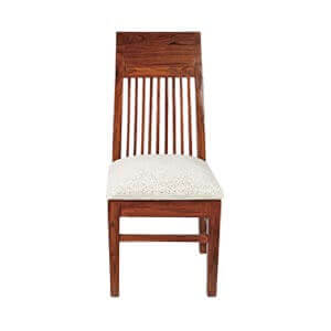 Classic Dining Chair with Slat Back and Cushion Seat