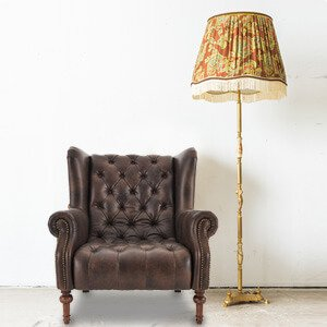 Classic Wingback Chair Leather High Back
