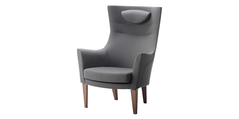Butterfly Fabric Accent Chair in Grey Colour