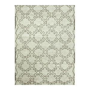 Jaipur Rugs Modern Hand Knotted Ivory an...