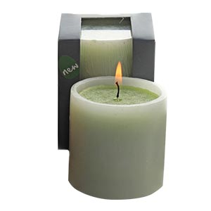 Aromatic Medium Sized Decor Candle in See Through Paper Box-fresh...